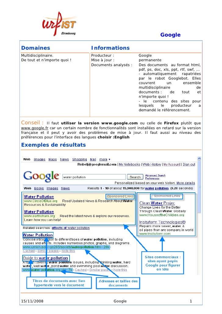 Google  Domaines                             Informations Multidisciplinaire.                  Producteur :             Go...