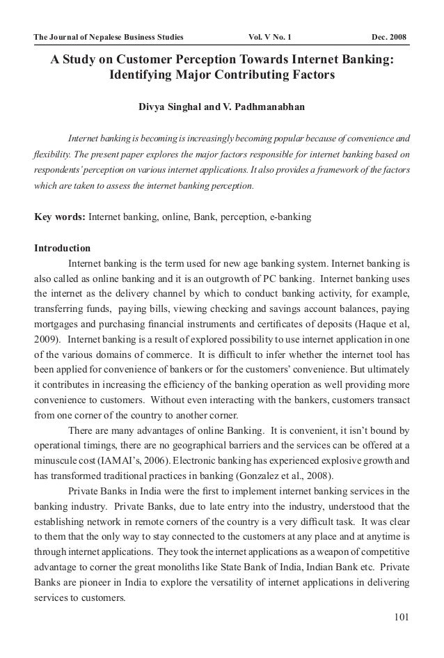 The Journal of Nepalese Business Studies        A Study on Customer Perception Towards Internet2008                      ...