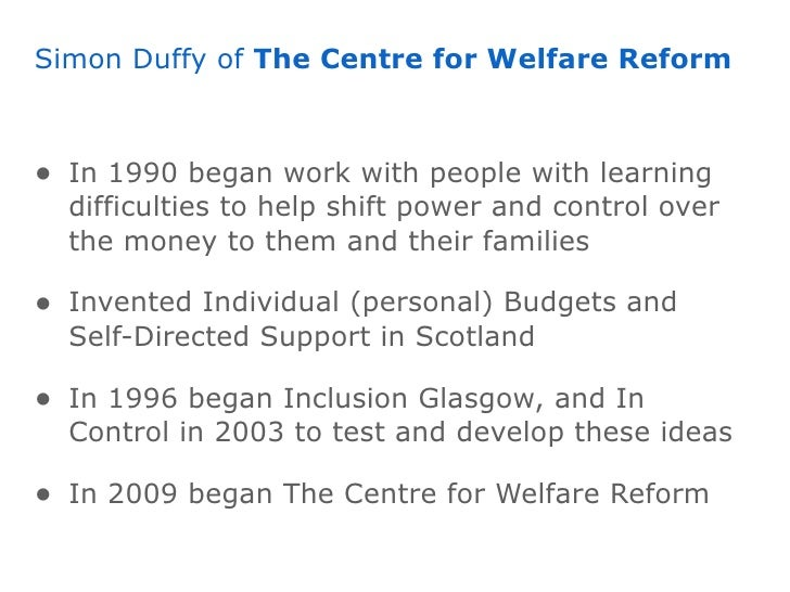 welfare reform ideas 22, 1996 — president bill clinton signed a welfare reform bill that he  welfare  reform was an admirable attempt to combine two ideas: that.