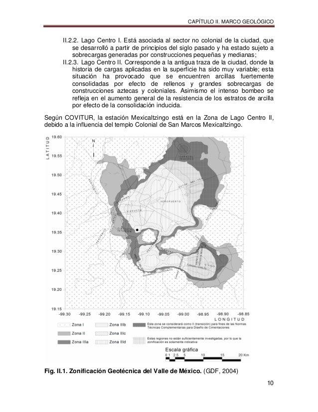 CAPÍTULO II. MARCO GEOLÓGICO 10 II.2.2. Lago Centro I. Está asociada al sector no colonial de la ciudad, que se desarrolló...