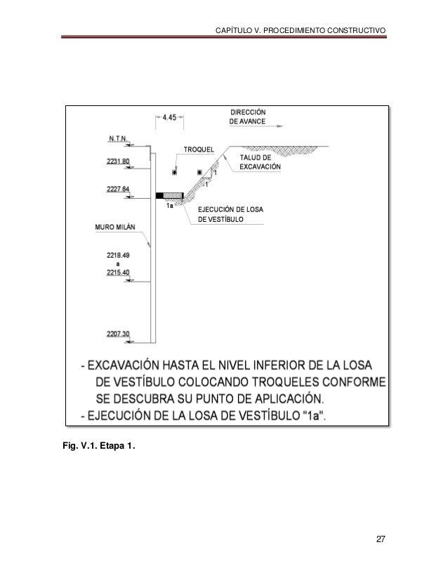 CAPÍTULO V. PROCEDIMIENTO CONSTRUCTIVO 27 Fig. V.1. Etapa 1.