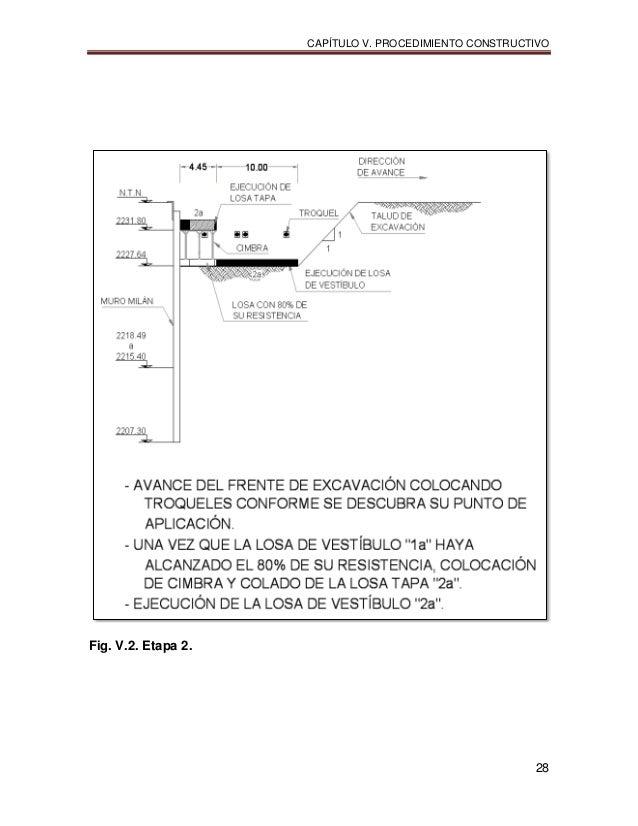 CAPÍTULO V. PROCEDIMIENTO CONSTRUCTIVO 28 Fig. V.2. Etapa 2.