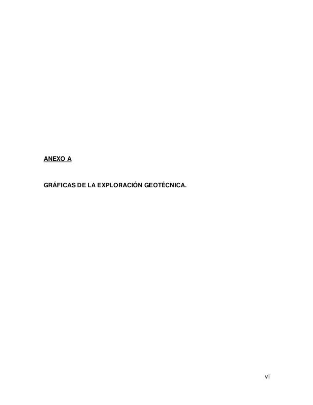vi ANEXO A GRÁFICAS DE LA EXPLORACIÓN GEOTÉCNICA.