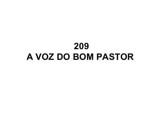 209 A VOZ DO BOM PASTOR