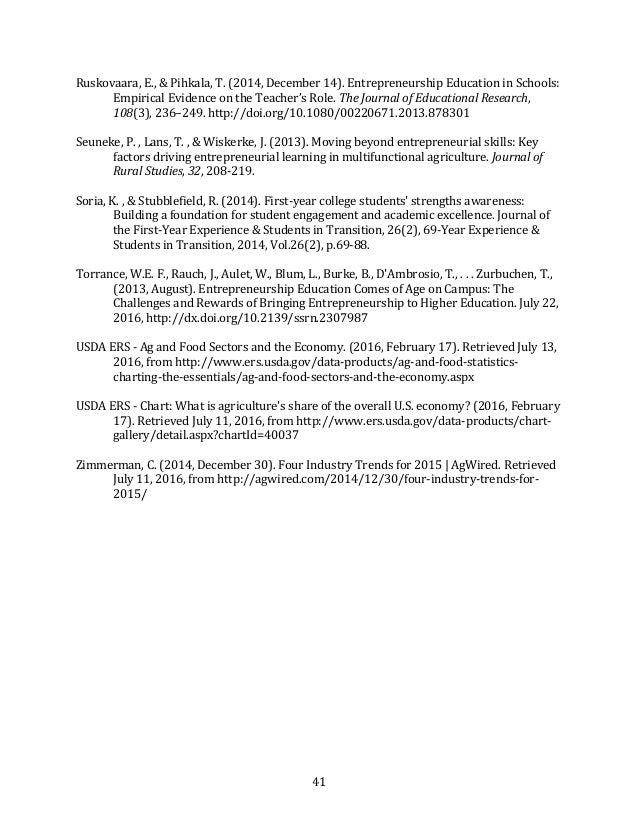 41 Ruskovaara,E.,&Pihkala,T.(2014,December14).EntrepreneurshipEducationinSchools: EmpiricalEvidenceontheT...