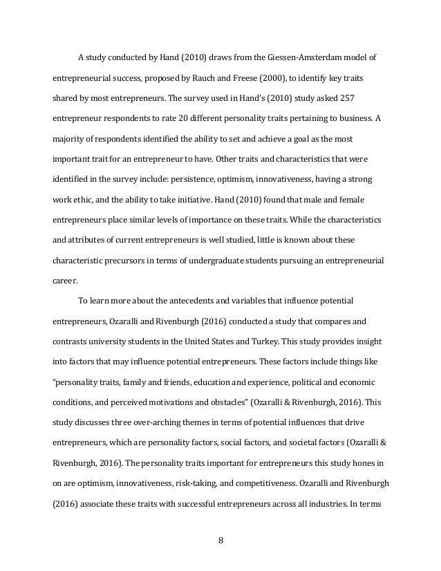 8 AstudyconductedbyHand(2010)drawsfromtheGiessen-Amsterdammodelof entrepreneurialsuccess,proposedbyRauch...