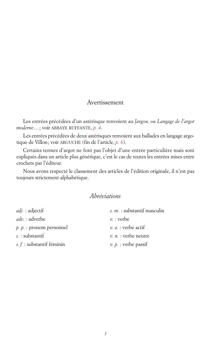 2092093 Vidocq Dictionnaire Argotfrancais Slide 3