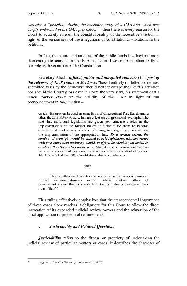 DAP Justice Brion separate concurring opinion – Dap Note