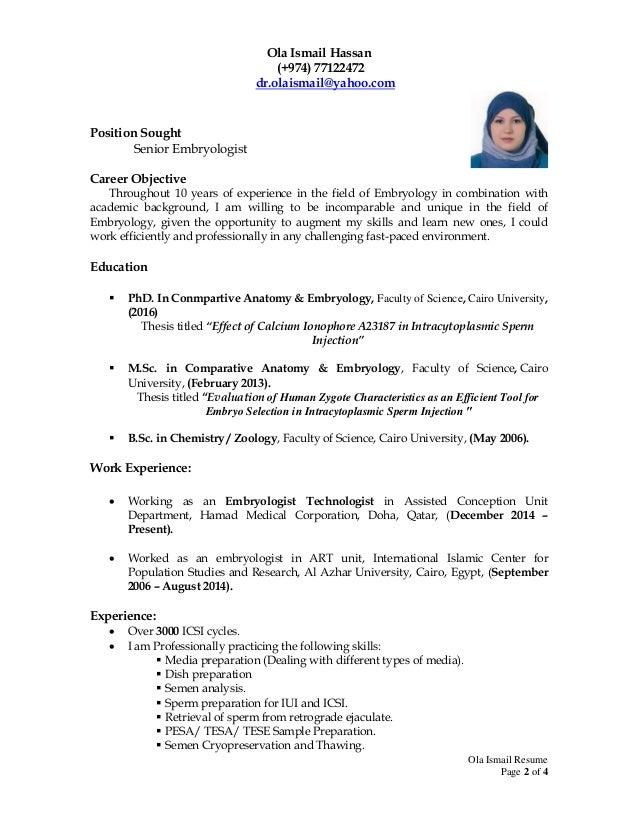 Dr Ola Ismail Resume 5
