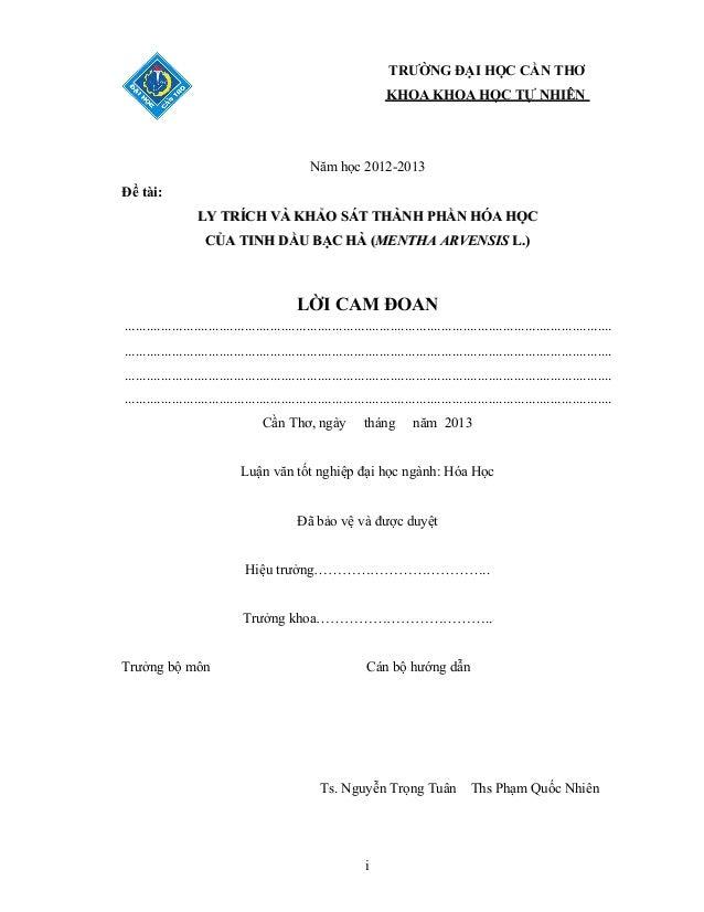 LY TRÍCH VÀ KHẢO SÁT THÀNH PHẦN  HÓA HỌC CỦA TINH DẦU BẠC HÀ  (MENTHA ARVENSIS)  Slide 3