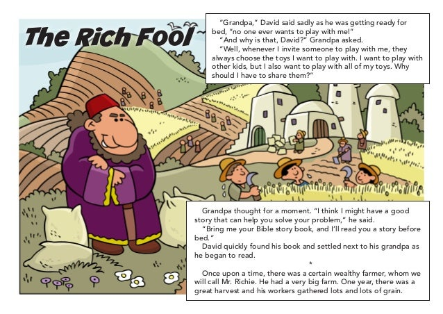 209 the rich fool for Parable of the rich fool coloring page