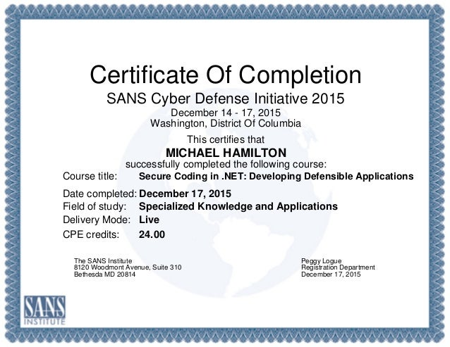 Secure Coding In Developing Defensible Applications Ceu Cert