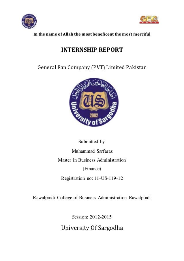 internship report on gfc Corporate governance report / statement on  ing to a consistent puma  training method at  in spite of the global financial crisis, there.