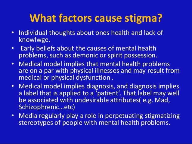 Stigma Of Mental Health