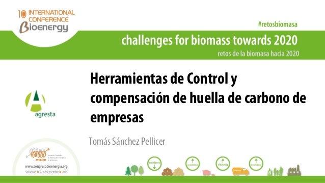 Herramientas de Control y compensación de huella de carbono de empresas Tomás Sánchez Pellicer