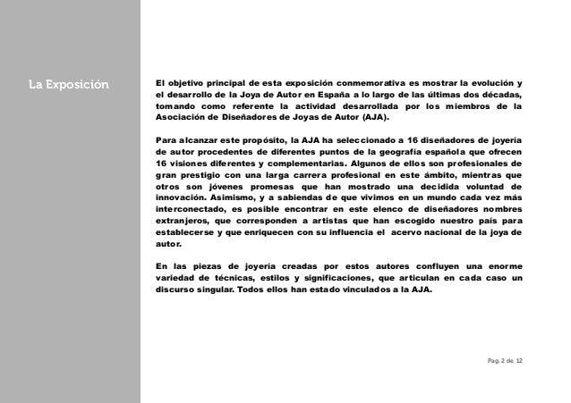 03cd795ecb5e Exposición  20 Años de Joya de Autor en España - MNAD 2015 - Dossier