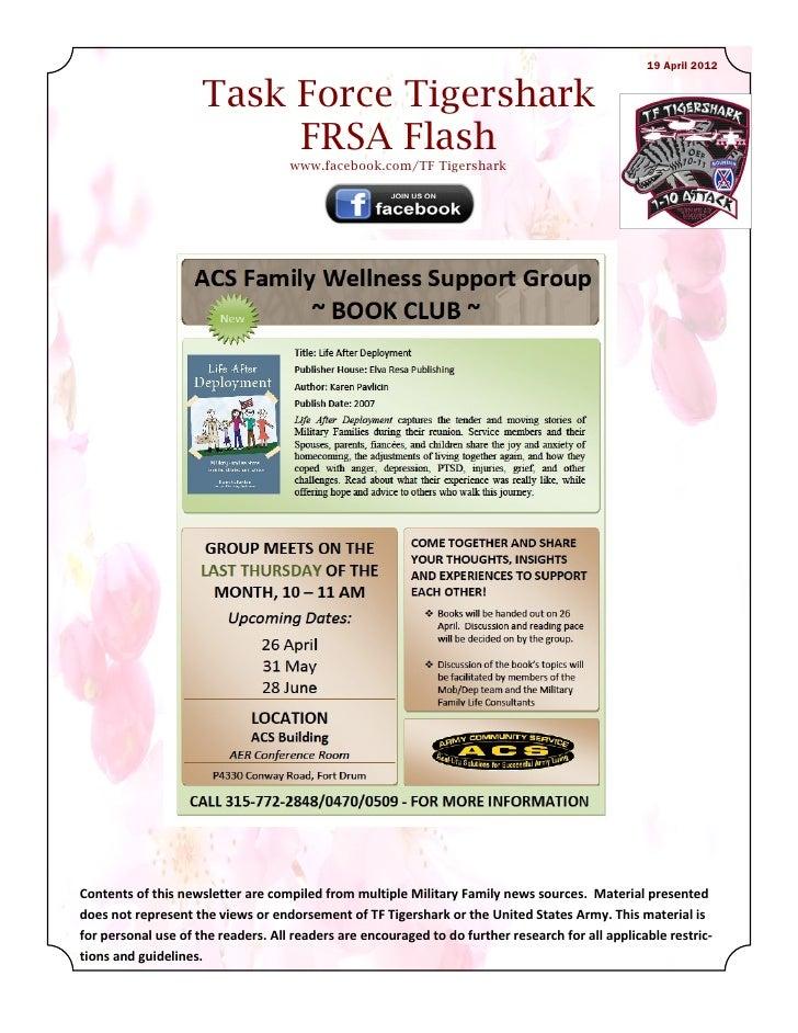 19 April 2012                     Task Force Tigershark                          FRSA Flash                               ...