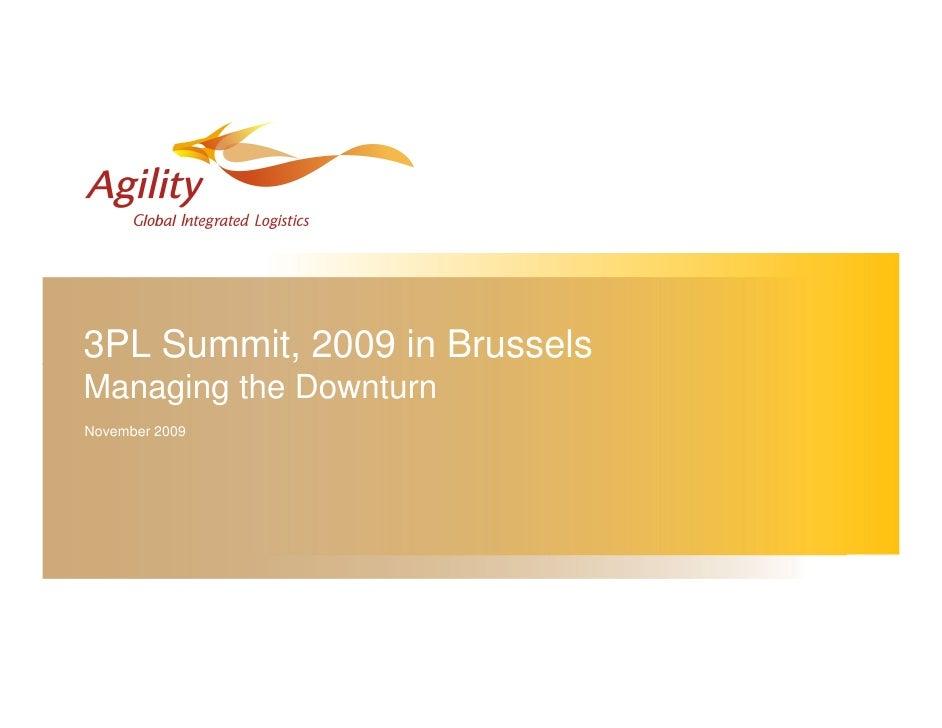 3PL Summit, 2009 in Brussels Managing the Downturn November 2009