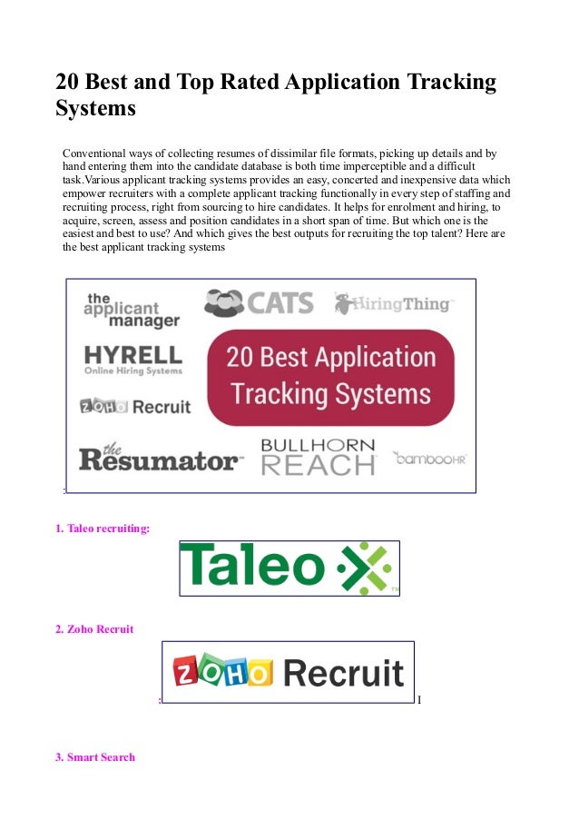 20  best and  top rated  applicationtrackingsystems