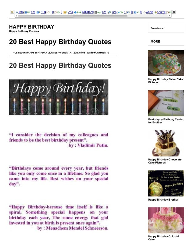 20 Best Happy Birthday Quotes