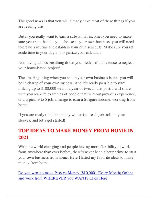 The good news is that you will already have most of these things if you are reading this. But if you really want to earn a...