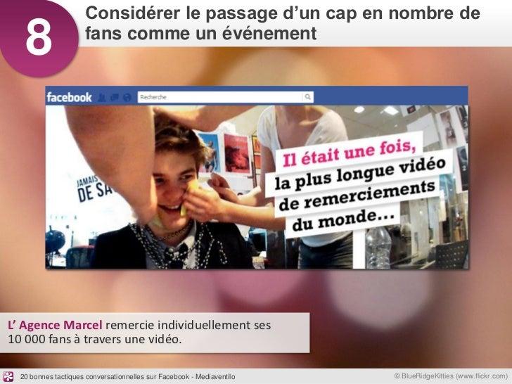 Considérer le passage d'un cap en nombre de   8                 fans comme un événementL' Agence Marcel remercie individue...