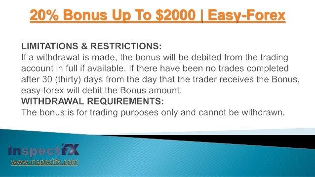 Easy forex 50 bonus