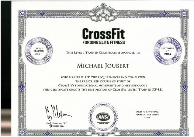 Crossfit - Level 1 Trainer Certificate