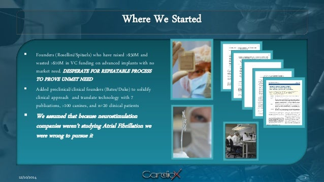 Where We Started  Founders (Rosellini/Spitaels) who have raised >$50M and wasted >$10M in VC funding on advanced implants...