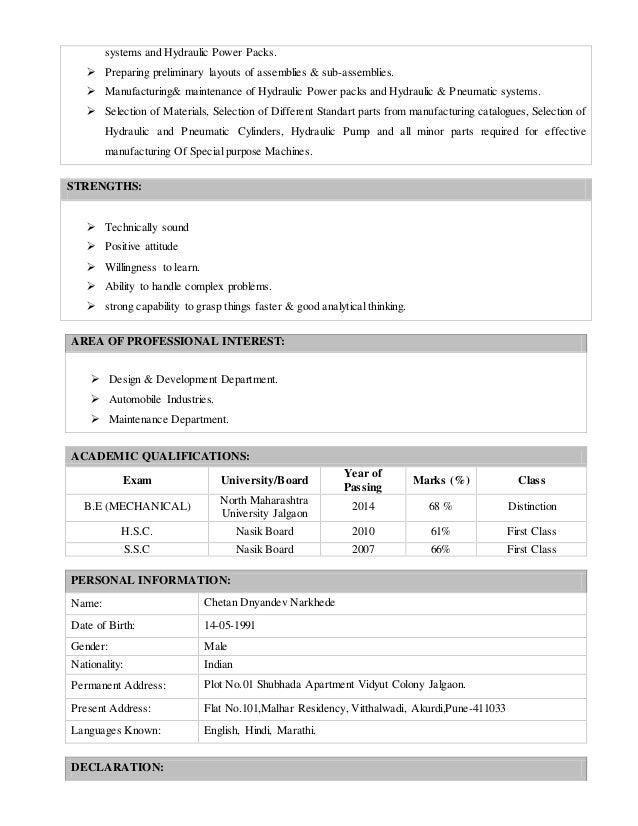 Engineering Resume Fixtures