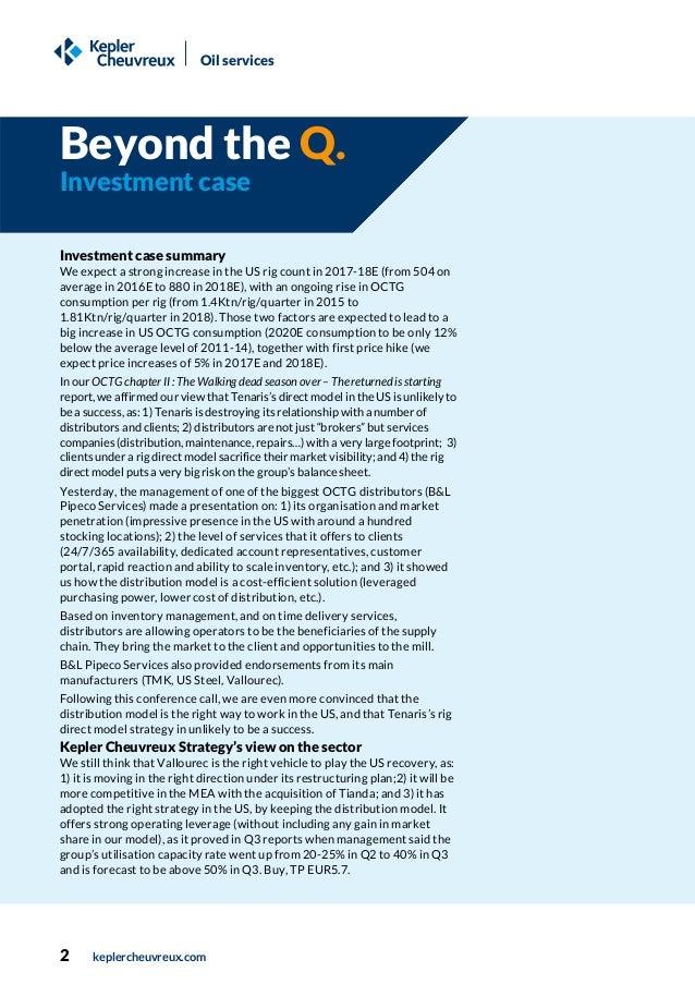 Q&A report, OCTG distribution model