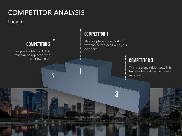 COMPETITOR ANALYSIS Podium COMPETITOR 1 This is a placeholder text. This text can be replaced with your own text. COMPETIT...