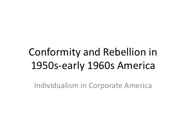 conformity by rebellion The book beyond conformity or rebellion: youth and authority in america, gary schwartz is published by university of chicago press.