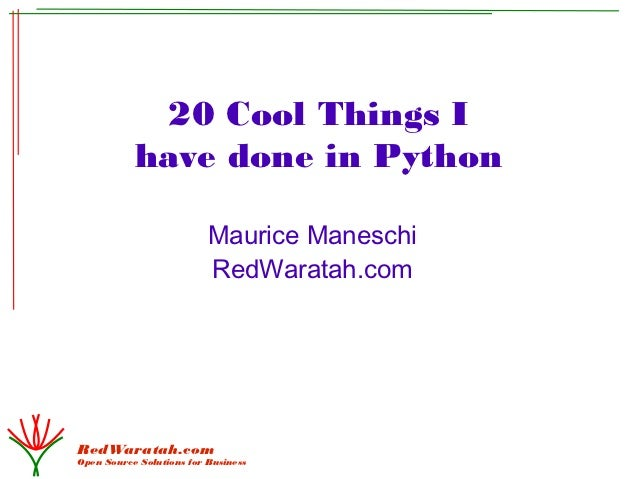 20 Cool Things Python