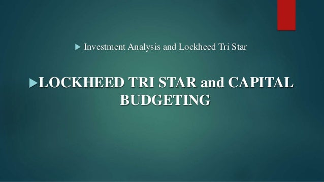 lockheed tristar and capital budgeting solution