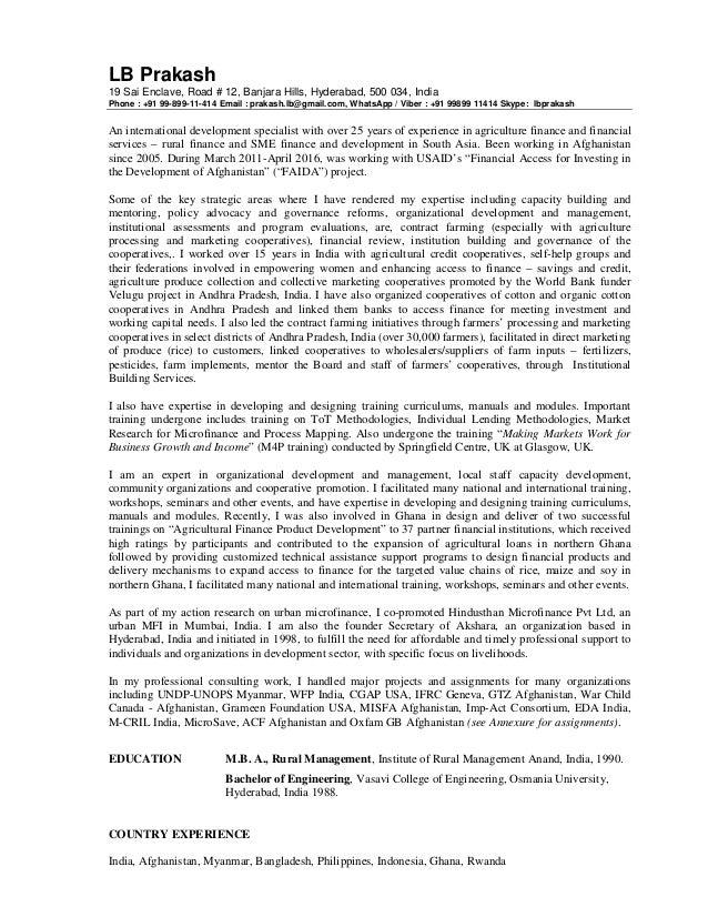 081816 CV of LB Prakash