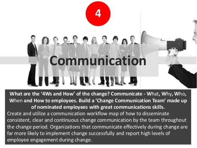how to get employees involve in the change