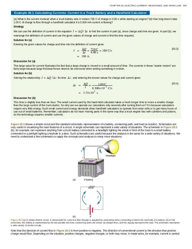 20 electric current resistance ohms law