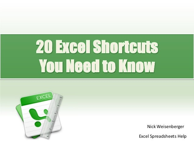 how to determine you need that shortcut