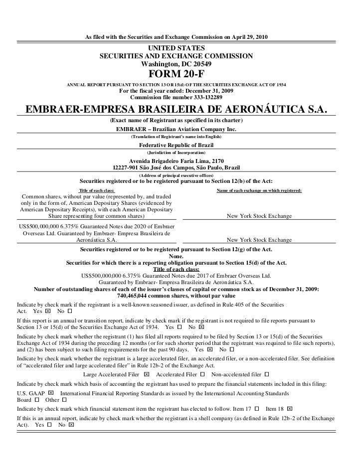 As filed with the Securities and Exchange Commission on April 29, 2010                                                  UN...
