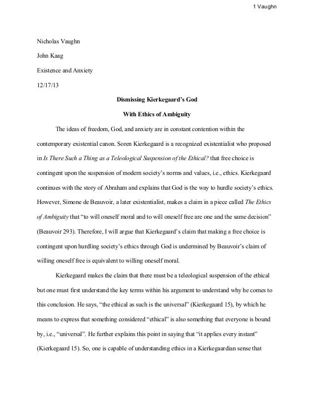 Taming Of The Shrew Essay Philosophy Argument Paper Philosophy Argument Paper  Vaughn Nicholas  Vaughn John Kaag Existence And Anxiety  Kantian Ethical Argument Essay  The Health  Outline Descriptive Essay also Jim Crow Laws Essay Ethical Argument Essay Ethical Argument Essay Topics For Students  The Count Of Monte Cristo Essay