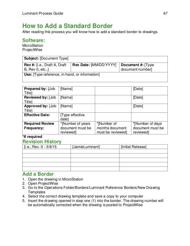 Process Guide Template - Apigram.Com