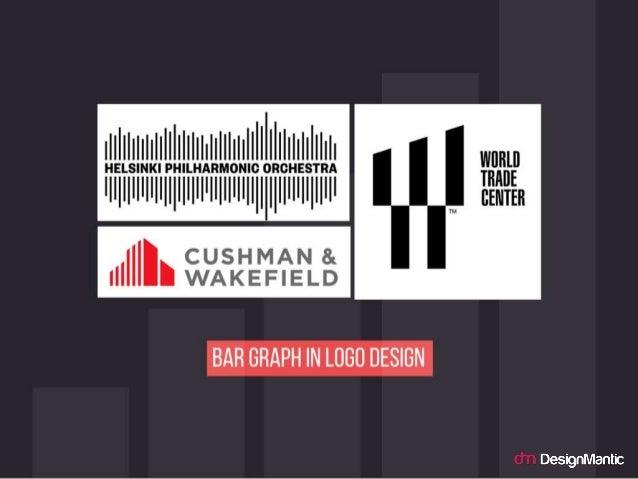 Bar Graph in Logo Design.