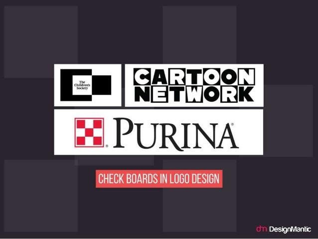 Check boards in logo design.