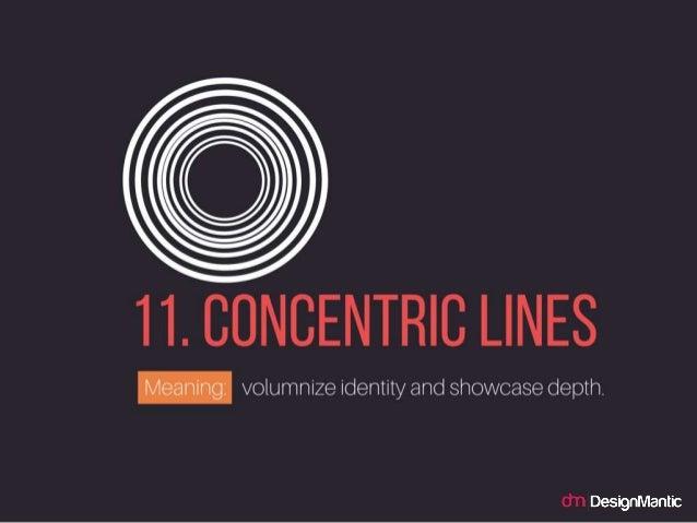 Cocentric Lines: volumnize identity and showcase depth.