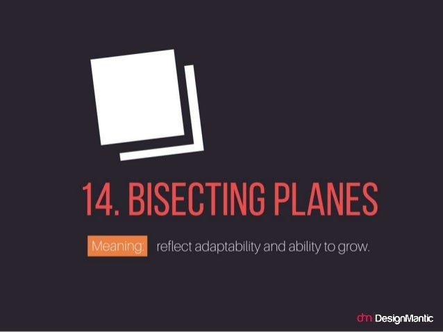 Bisecting Planes: reflect adaptability and ability to grow.