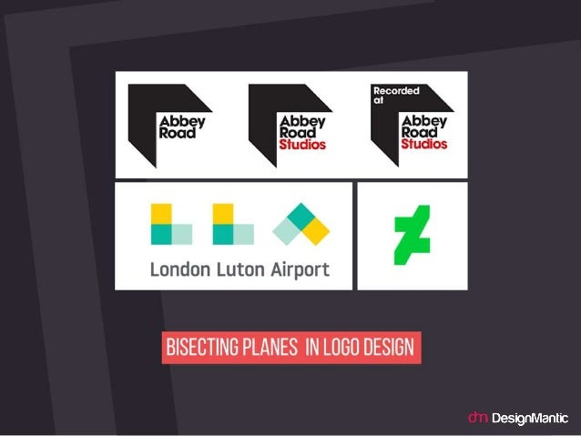 Bisecting Planes in logo design.