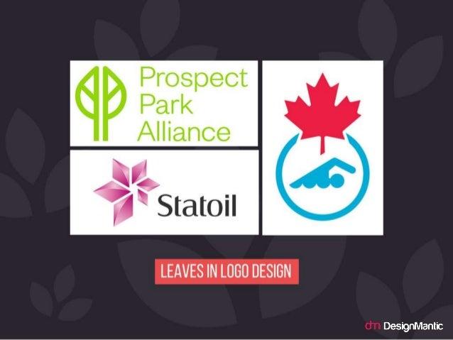 Leaves in logo design.