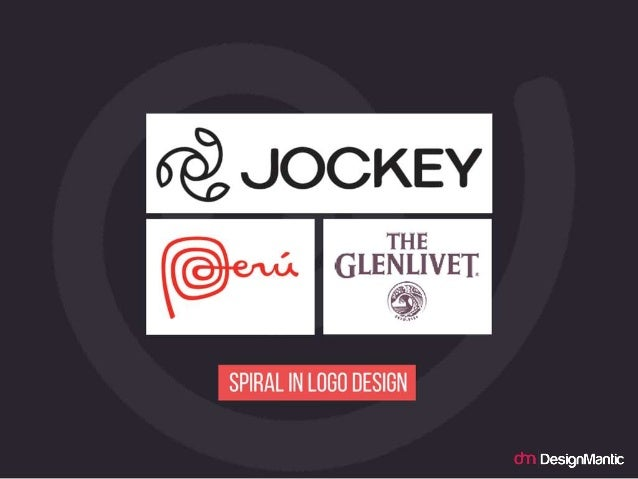 Spiral in logo design.