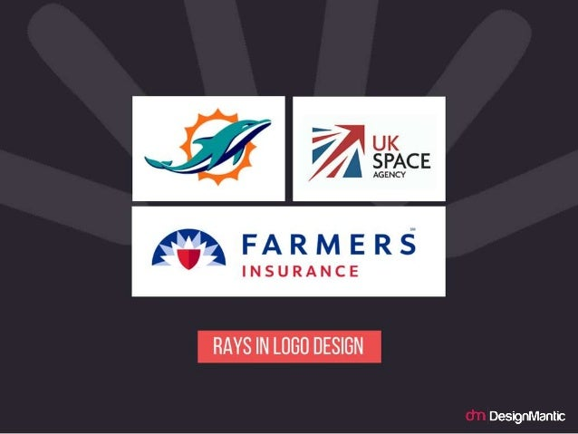 Rays in logo design.